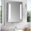Tulia LED Bathroom Mirror with Illumination De-mist & Shaving Socket - H700 x W500 x D45mm