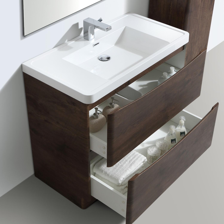Picture of: Walnut Free Standing Bathroom Vanity Unit Basin W900 X H850mm Oakland Better Bathrooms