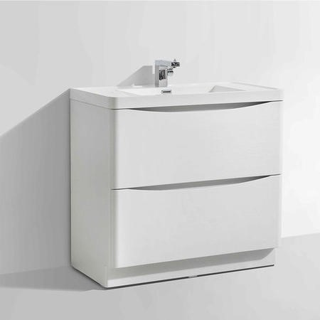 White Free Standing Bathroom Vanity Unit & Basin - W900 x H850mm - Oakland