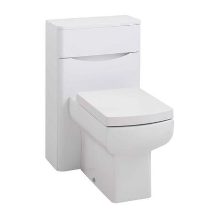 White Back To Wall WC Toilet Unit - Without Toilet - 200mm Depth