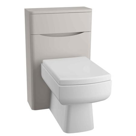 Grey Back to Wall WC Toilet Unit - Without Toilet - W500 x D200mm - Oakland