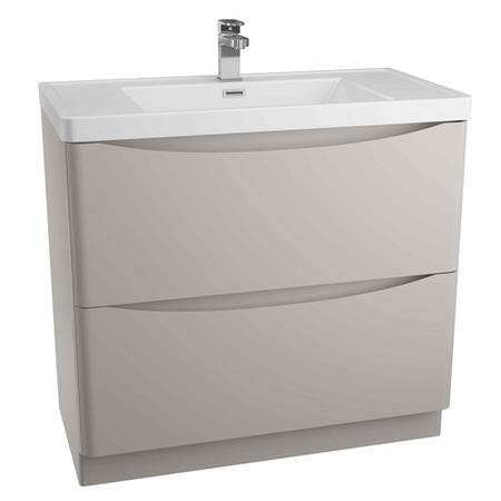 Grey Free Standing Bathroom Vanity Unit & Basin - W900 x H850mm