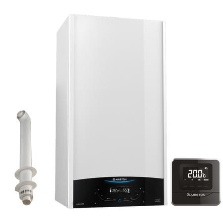 Ariston Genus One Net 24 Kw A+ Combi Boiler with Alexa WiFi with Free Cube R Net and Horizontal Flue Kit  - 12 Year Warranty