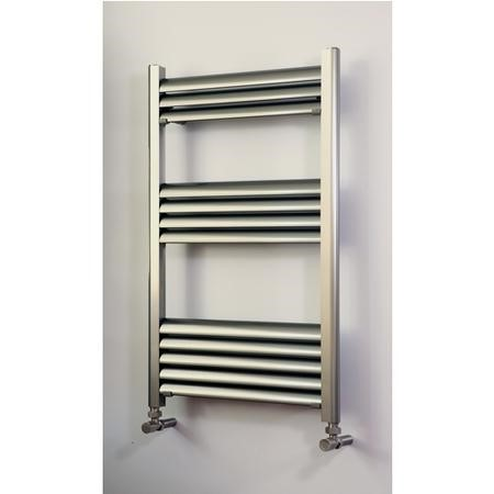 Accuro Korle Champagne Towel Radiator Brushed Aluminium - 700 x 500mm