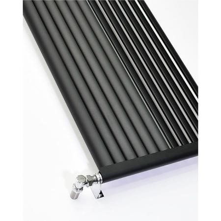 Accuro Korle Vertical Anthracite Radiator Aluminium - 1800 x 470mm
