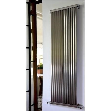 Accuro Korle Aluminium Radiator Brushed Aluminium - 1500 x 470mm