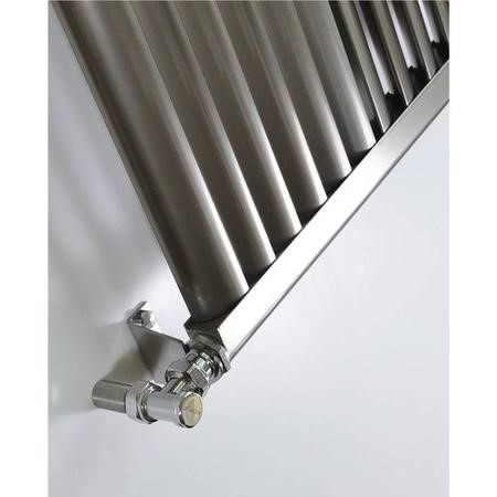 Accuro Korle Aluminium Radiator Brushed Aluminium - 1500 x 330mm