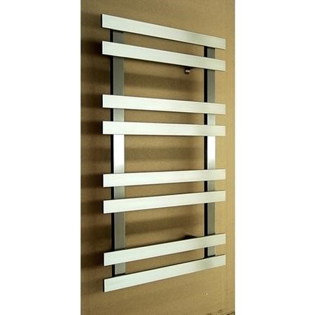 Accuro Korle Brushed Stainless Steel Towel Radiator - 840 x 500mm - 8 Bars