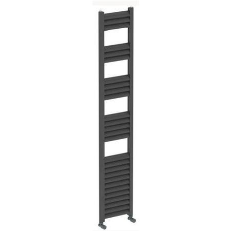 Accuro Korle Champagne Towel Radiator Anthracite - 1600 x 300mm