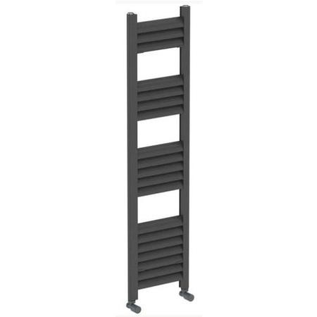 Accuro Korle Champagne Towel Radiator Anthracite - 1200 x 300mm