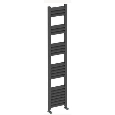 Accuro Korle Champagne Towel Radiator Anthracite - 1400 x 300mm