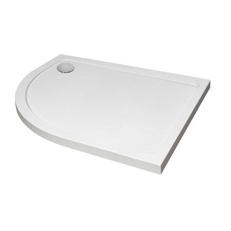 900 x 800 Offset Quadrant Stone Resin Shower Tray - Acrlic Capped Left Hand