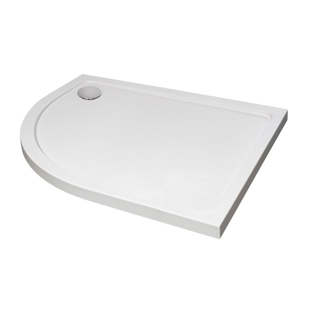 Offset Quadrant Left Hand Low Profile Shower Tray 900 x 800mm - JT