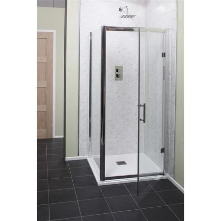Claritas 6mm Glass Easy Clean Hnged Door - 700mm x 1850mm
