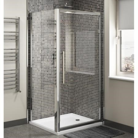 Claritas 8mm Glass Hinged Shower Door - 760 x 1950mm