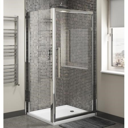 Claritas 8mm Glass Hinged Shower Door - 900 x 1950mm