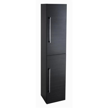 Black 2 Door Tall Boy Storage Unit - W300 x H1435mm