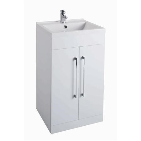 White Free Standing bathroom Vanity Unit - Without Basin - W500 x H820mm