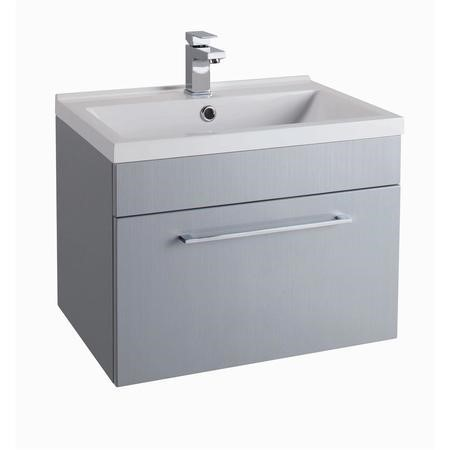 Grey Wall Hung Bathroom Vanity Unit - Without Basin - W600mm