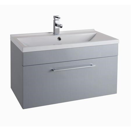 Grey Wall Hung Vanity Unit - Without Basin - 800mm Wide