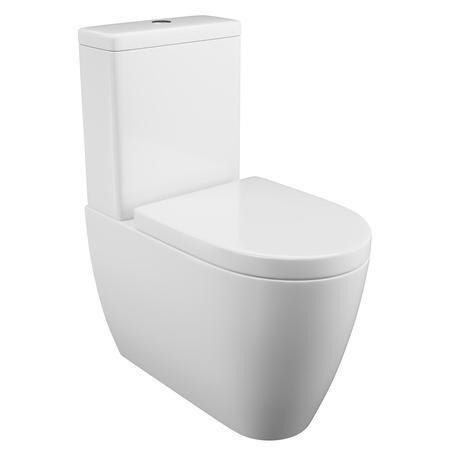 Curve Close Coupled Toilet with Soft Close Seat