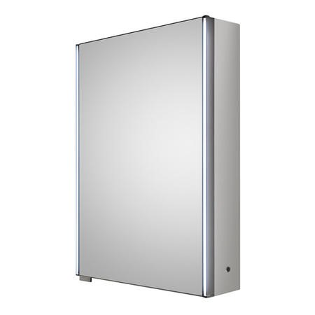 Mirror Cabinet Single Door with LED Lighting - Aries 500mm