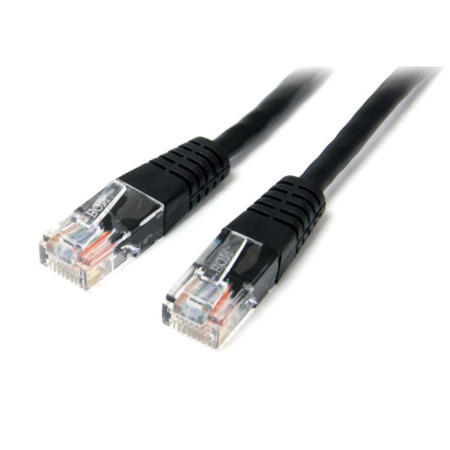 StarTech.com 15m Cat5e Black Molded RJ45 UTP Cat 5e Patch Cable - 15 m Patch Cord