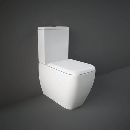 RAK Metropolitan Back to Wall WC Pack with Soft Close Seat Urea