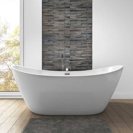 Duke Modern Curved Freestanding Bath - 1700 x 800 x 680mm