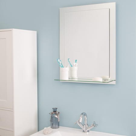 Croydex Devoke Rectangular Double Layer Mirror with Shelves
