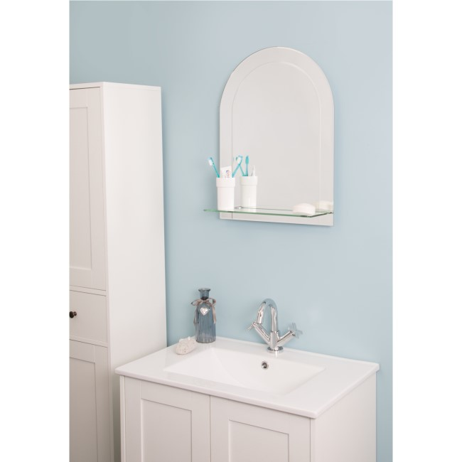 Croydex Fairfield Bathroom Mirror with Shelf - 450 x 600mm
