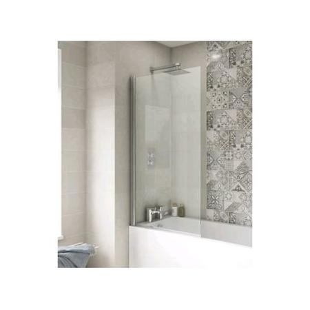1400 x 785mm Straight Square Hinged Bath Screen