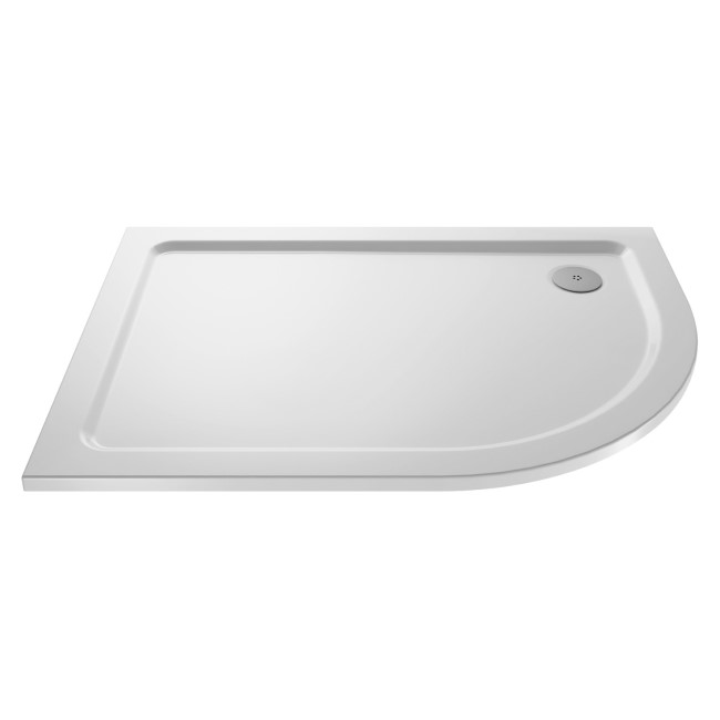 Offset Quadrant Left Hand Low Profile Shower Tray 1200 x 800mm - Purity