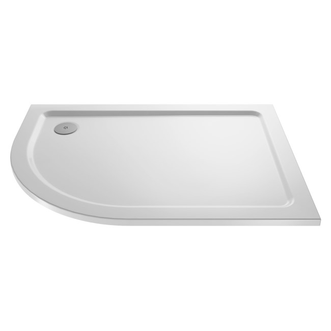 Offset Quadrant Right Hand Low Profile Shower Tray 1200 x 800mm - Purity