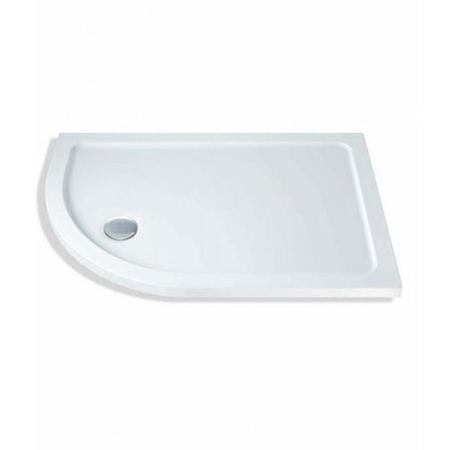 Claristone White Left Hand Shower Tray & Waste - 900 x 760mm