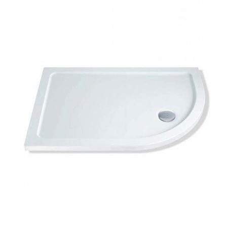 Claristone White Right Hand Shower Tray & Waste - 1200 x 900mm