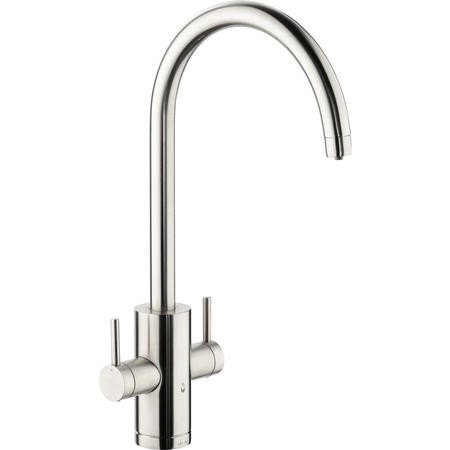 Abode PT1002 Pronteau Profile 4 in 1 Instant Hot & Filtered Water Tap - Brushed Nickel
