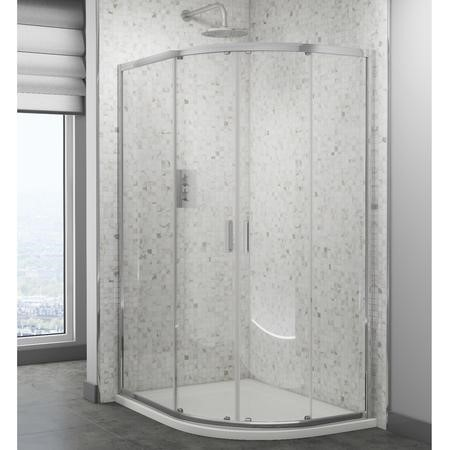 Quadrant Shower Screen Enclosure 800 x 800mm - 6mm Glass - Claritas Range