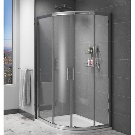 Claritas 6mm Glass Quadrant Shower Screen Enclosure 1000 x 800mm