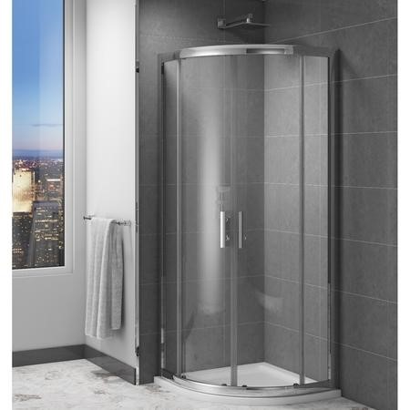 Claritas 6mm Glass Quadrant Shower Screen Enclosure - 1000 x 1000mm