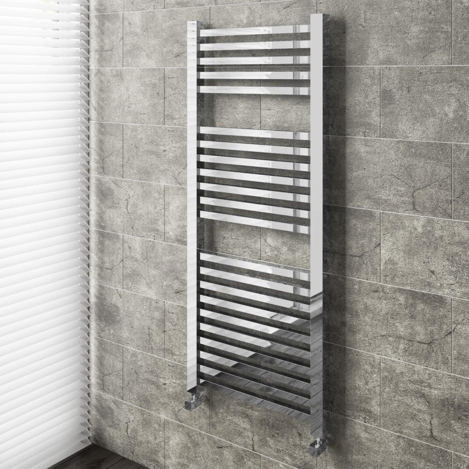 Chrome Bathroom Towel Radiator - 1200 x 500mm - Better ...