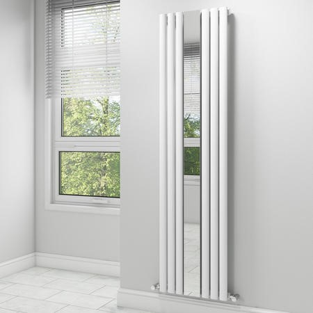 Vertical Mirrored Designer Modern Radiator - 1800 x 499mm - 3031 BTU's