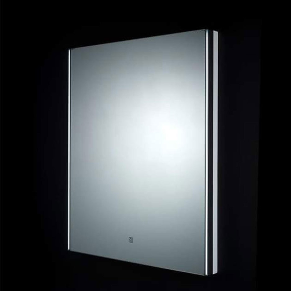 Rak Resort Led Mirror With Demister Pad And Shaver Socket 700 X 550mm Better Bathrooms