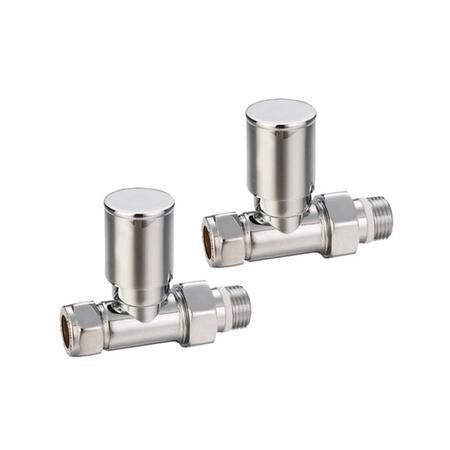 Pair of Modern Round Head Radiator Valves