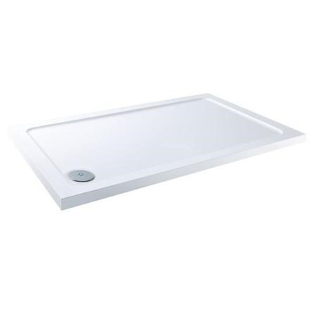 900 x 760 White Stone Resin Shower Tray - Corner Waste - Claristone Range