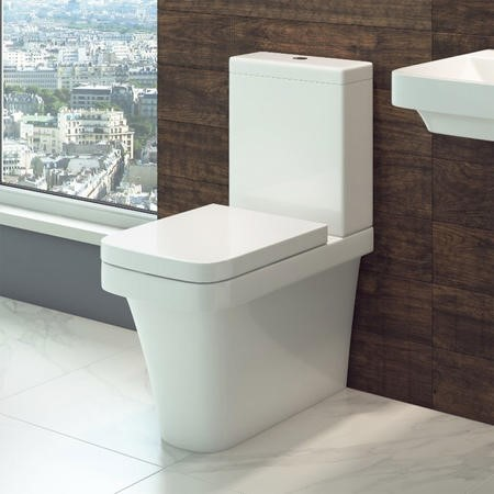 Close Coupled Toilet with Soft Close Seat - Square - Davana