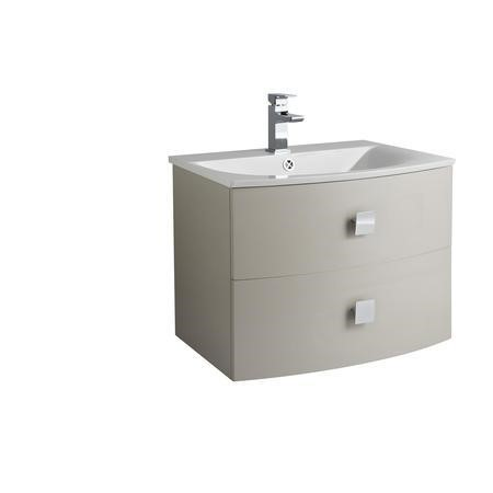 Cashmere Wall Hung Bathroom Vanity Unit & Basin - W712 x H430mm