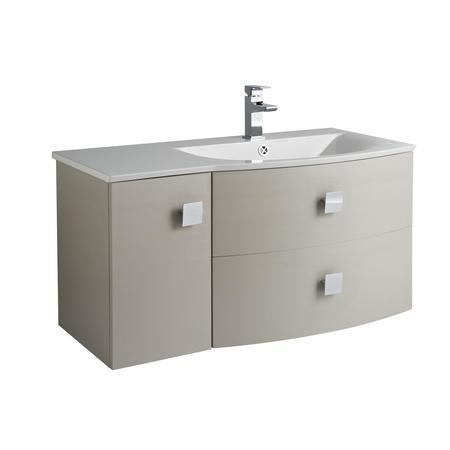 Cashmere Wall Hung Bathroom Vanity Unit & Basin Right Handed - W1012 x H428mm