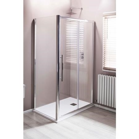 Claritas 8+ Glass Sliding Shower Door 1200 x 1950mm - 8mm Glass