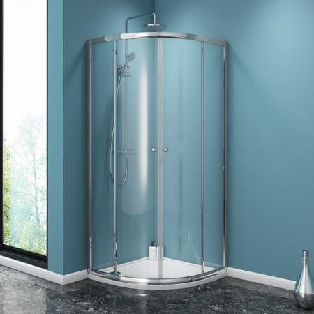 800 x 800 Quadrant Sliding Shower Enclosure - 4mm Glass - Taylor & Moore